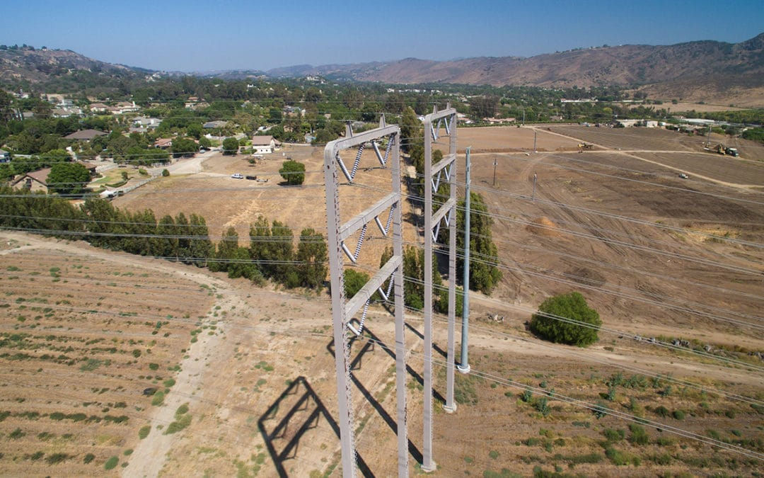 Transmission line inspection by drone